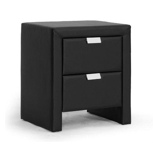Upholstered Modern Nightstand Black