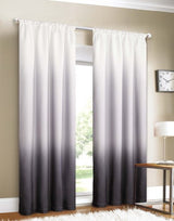 Home Shades 2 Window Panel Rod Pocket Set 40 by 84-Inch