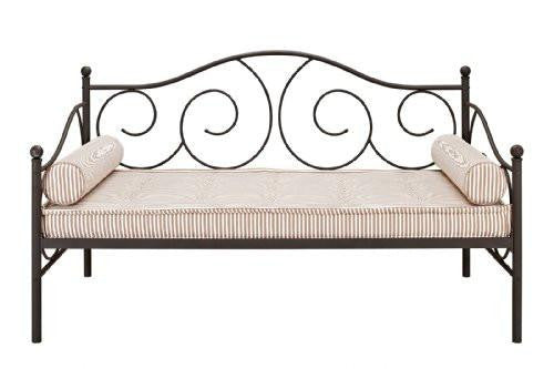DHP Victoria Twin Sized Metal Daybed White or Bronze