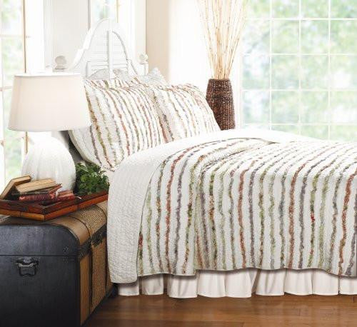 Greenland Home Bella Ruffle Quilt Set 2 pc