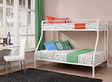 DHP Twin Sized Bunk Bed Over Full Sized Bed with Metal Frame