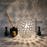 Elegant Designs Crystal Ball Table Lamp