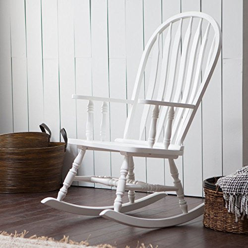Belham Living Windsor Indoor Wood Rocking Chair in White