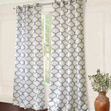 Geo Trellis Room Darkening Grommet Unlined Window Curtains Set of Two Panels