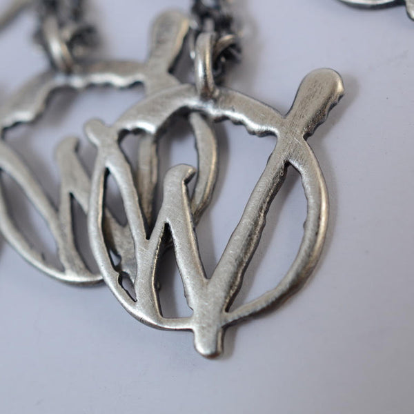 Sterling Silver Warriors Logo Necklace