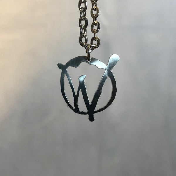 Stainless Steel Warriors Logo Necklace