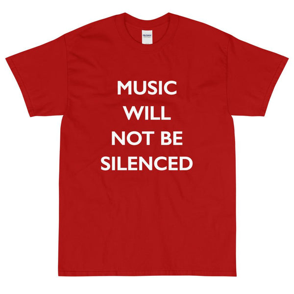 Music Will Not Be Silenced Sleeve T-Shirt
