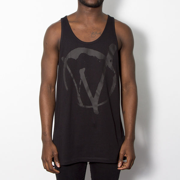 Warriors Black On Black Mens Vest