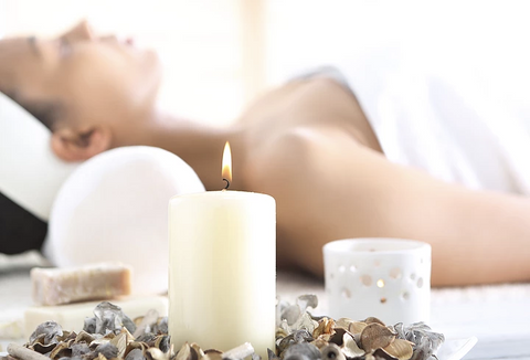 Woman enjoying aromatherapy