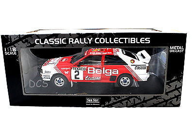Sunstar 1983 Audi Quattro Rally A1 #2 Winner Boucles De Spa 1/18 Diecast Car