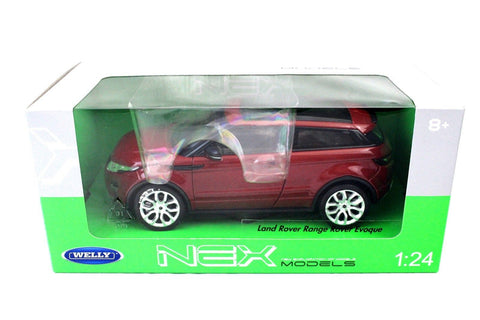 Welley Land Rover Range Rover Evoque Red 1/24 New In Box Diecast Car 24021