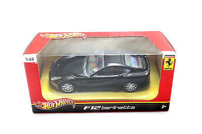 Hot Wheels Ferrari F12 Berlinette Black 1/43 Diecast Car Bcj80