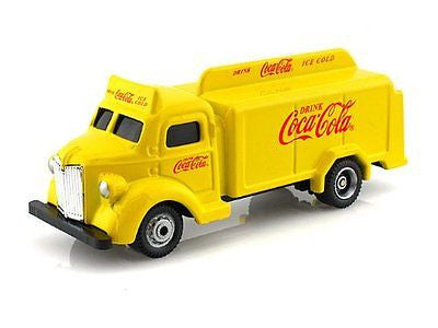 Motorcity Classic 1947 Coca Cola Delivery Bottle Truck Yellow 1/87 Diecast Car
