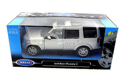 Welly Range Land Rover Discover 4 Silver New 1/24 Diecast Car