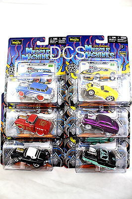 Maisto Muscle Machines New 2012 Set Of 6 Releas 12.2, Chevy,Ford,Mercury 1/64