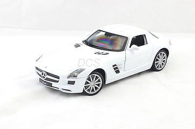 Mercedes Benz Sls Amg White Made By Welly New Without Box 1/24 Diecast Car