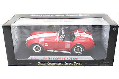 1965 Shelby Cobra 427 S/C Red With White Stripes 1/18 Diecast Car 122rd