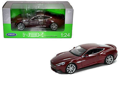 Welly Aston Martin Vanquish Burgundy Bronze 1/24 Diecast Car Model 24046