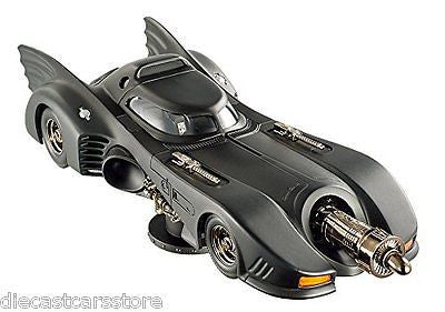 Hot Wheels Elite 1992 Batman Returns Batmobile 1/18 Michael Keaton Diecast Bly24