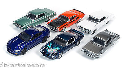 Autoworld Muscle Cars Premium Release 4b Set Of 6 Cars 1/64 By Autoworld 64032 B