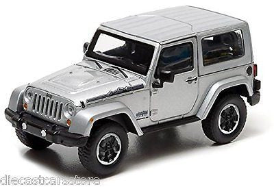 4 Jeep Wrangler Polar Limited Edition Silver In Case 1/43 Greenlight 86057 201