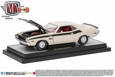 1970 Dodge Challenger T/A White W/ Black Stripes 1/24 Diecast Model M2 40300-53b