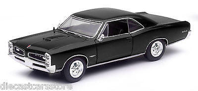 1966 Pontiac Gto Black 1/25 Diecast Model Car By New Ray 71853b
