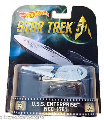 Hot Wheels Uss Enterprise Tm Ncc 1701- Star Trek 1/64 Diecast Dmc55-959b