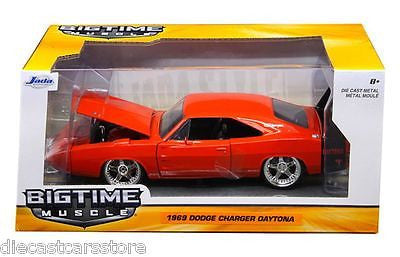 Jada 1969 Dodge Charger Daytona Orange 1/24 Diecast Model Car 97682