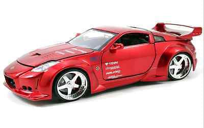 Jada 2003 Nissan 350z Red 1/24 Diecast Car New In Box / Very Rare Item