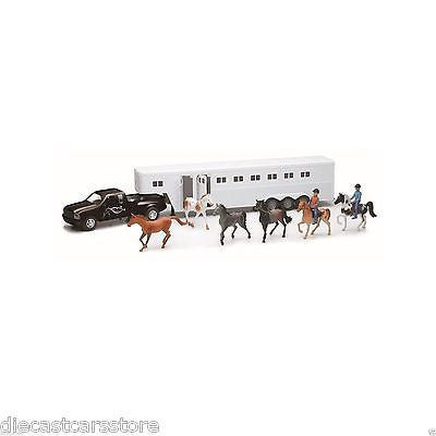 New Ray Country Life Ford Black Pick Up With Horse Set & 2 Riders 1/32 #SS-15385