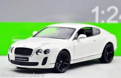 Welly Bentley Continental Supersports White 1/24 Diecast Car Model 24018