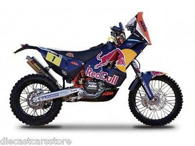 Bburago Ktm 450 Rally Dakar #1 RED Bull 1/18 Dirt Motorcycle 51071