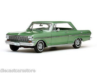 Sunstar 1963 Chevrolet Nova Hard Top Green1/18 Diecast Car Ss3968