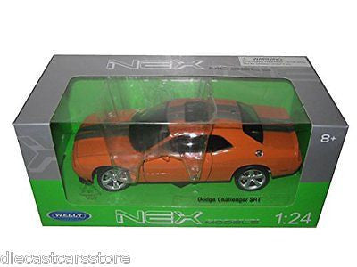 Welly 2013 Dodge Challenger Srt Orange 1/24 Diecast Car 24049