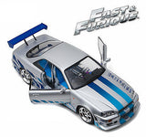 Greenlight 1999 Nissan Skyline Gt-R (R34) FAST & Furious Movie 1/18 Car 19029