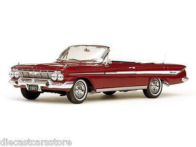 Sunstar 1961 Chevrolet Chevy Impala Convertible Red 1/18 Diecast Ss3406