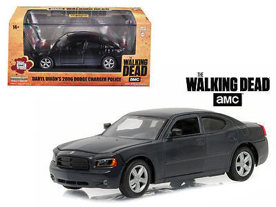 Daryl Dixon's 2006 Dodge Charger Police THE Walking Dead 1/43 Greenlight 86505
