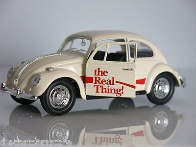 1966 Volkswagen Beetle COCA Cola The Real Thing 1/24 Motorcity Classics 440047
