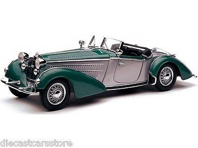 Sunstar 1939 Horch 855 Roadster Green 1/18 Diecast Model Car 2404