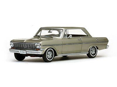 Sunstar 1963 Chevrolet Nova Hard Top Autumn Gold 1/18 Diecast Car 3967