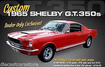 1965 Ford Shelby Mustang Gt 350 Red Ltd Ed Dealer Exclusive 1/18 ACME A1801802r