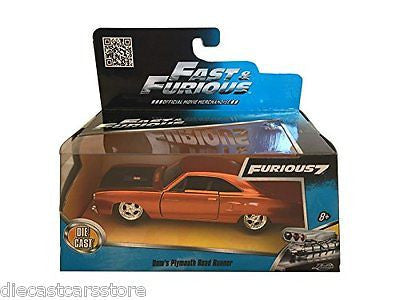 Jada Dom's Plymouth Road Runner Fast & Furious 7 Movie 1/32 Diecast Car 97128