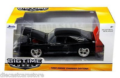 Jada 1969 Dodge Charger Daytona Black 1/24 Diecast Model Car 97681