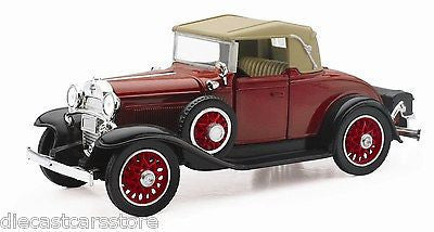 New Ray 1:32 Classic Collection 1931 Chevrolet Sport Cabriolet Diecast Red Ss5093