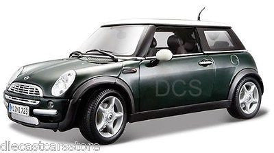Maisto Mini Cooper Sun Roof Green 1/18 Diecast Car 31656grn