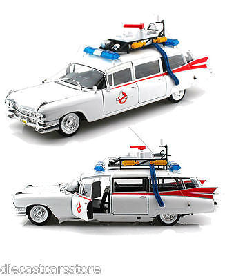 Hot Wheels 1959 Cadillac Ambulance Ecto-1 Ghostbusters 1 Movie 1/18 New Bcj75
