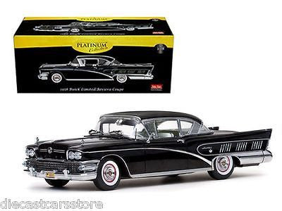 Sun Star 4805 Platinum Edition 1958 Buick Limited Riviera Coupe 1/18 Black