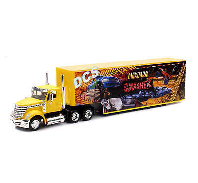 New Ray Long Haul Trucker International Lonestar W Monster Truck Container 1/43
