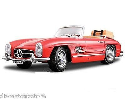 Bburago 1957 Mercedes 300 Sl Touring Convertible Red 1/18 Diecast 12049